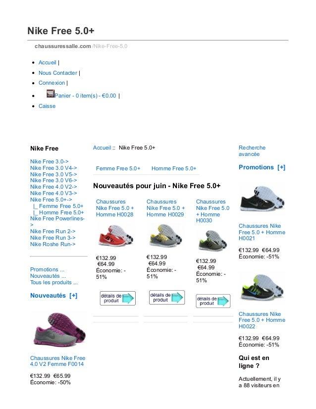 Nike Free 5.0+ chaussuressalle.com /Nike-Free-5.0 Accueil | Nous Contacter | Connexion | Panier - 0 item(s) - €0.00 | Cais...