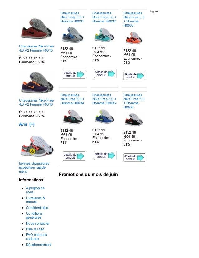 Chaussures Nike Free 4.0 V2 Femme F0015 €139.99 €69.99 Économie: -50% Chaussures Nike Free 4.0 V2 Femme F0016 €139.99 €69....