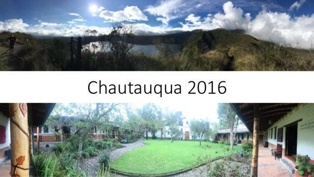 Chautauqua 2016