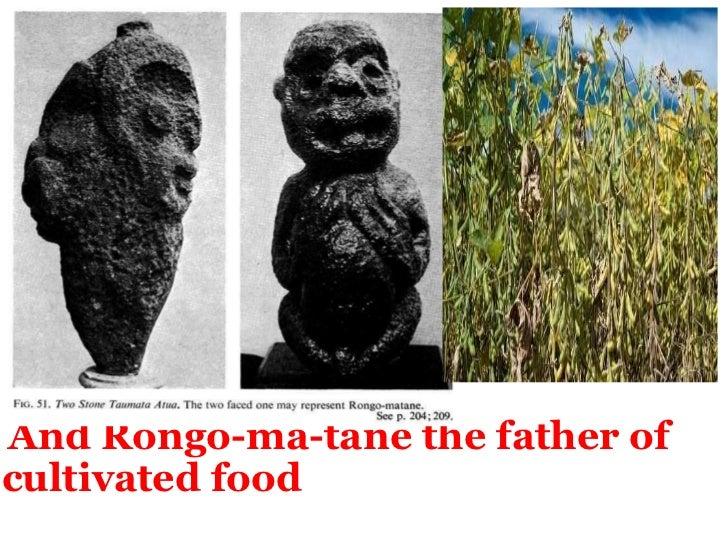 <ul><li> And Rongo-ma-tane the father of cultivated food </li></ul>