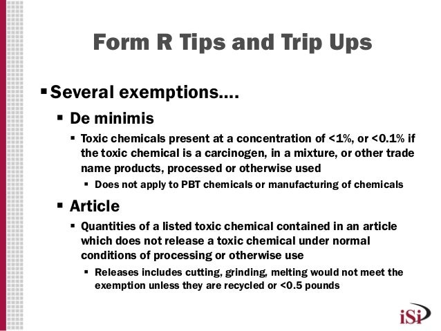 Chavez, Nikki, Isi Environmental, Form R Tips And Trip Ups, Mecc, 201…