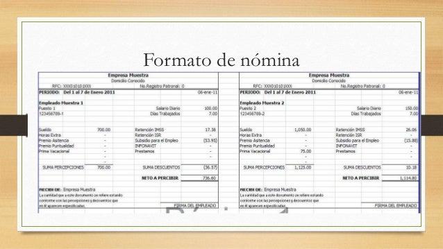 N minas y salararios administraci n for Nomina en blanco para rellenar