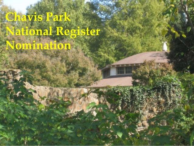Chavis Park National Register Nomination
