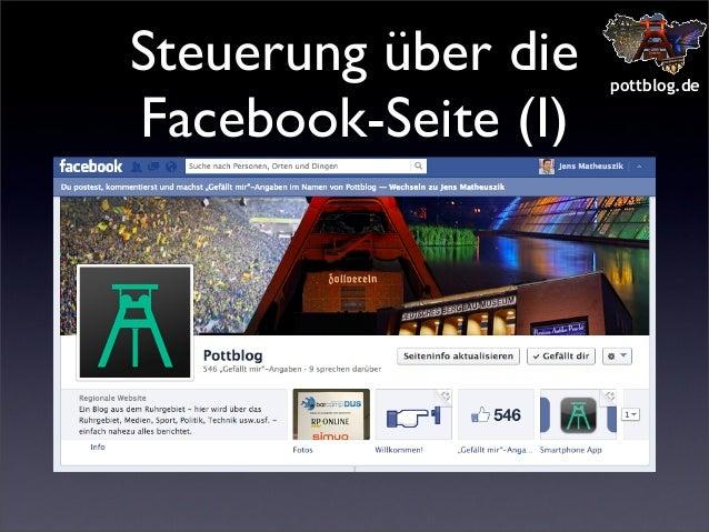 Steuerung über die Facebook-Seite (I)  pottblog.de
