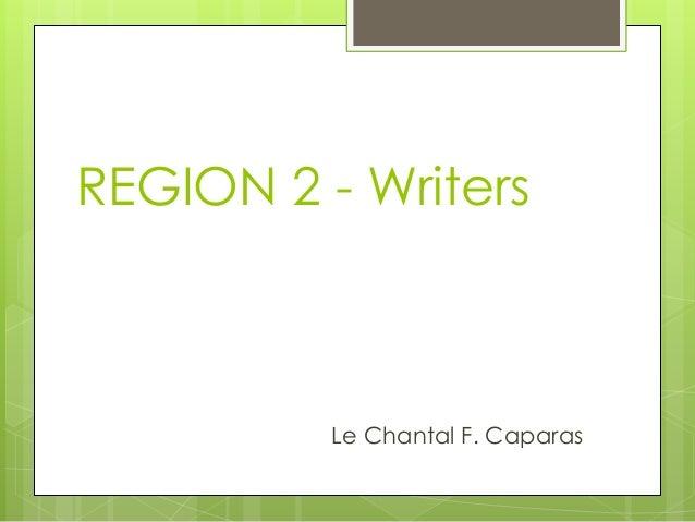 Literature in Region 2, Philippines