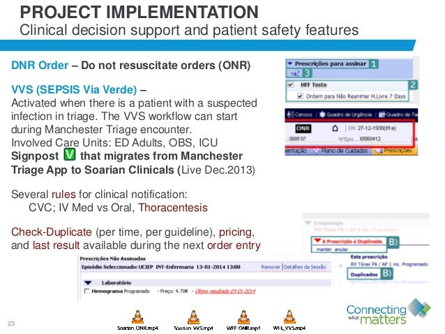 23 PROJECT IMPLEMENTATION Clinical decision support and patient safety features DNR Order – Do not resuscitate orders (ONR...