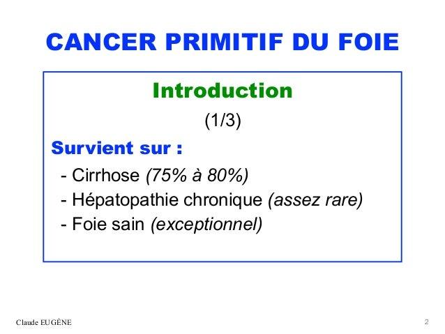 CANCER PRIMITIF DU FOIE (CHC). Après les recommandations 2019 du TNCD. Slide 2