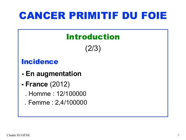 CANCER PRIMITIF DU FOIE (CHC). Après les recommandations 2019 du TNCD. Slide 3