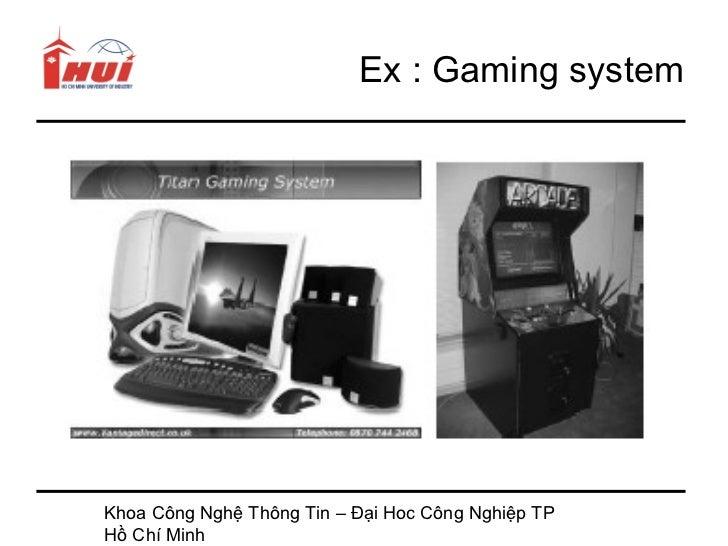 Ex : Gaming systemKhoa Công Nghệ Thông Tin – Đại Hoc Công Nghiệp TPHồ Chí Minh