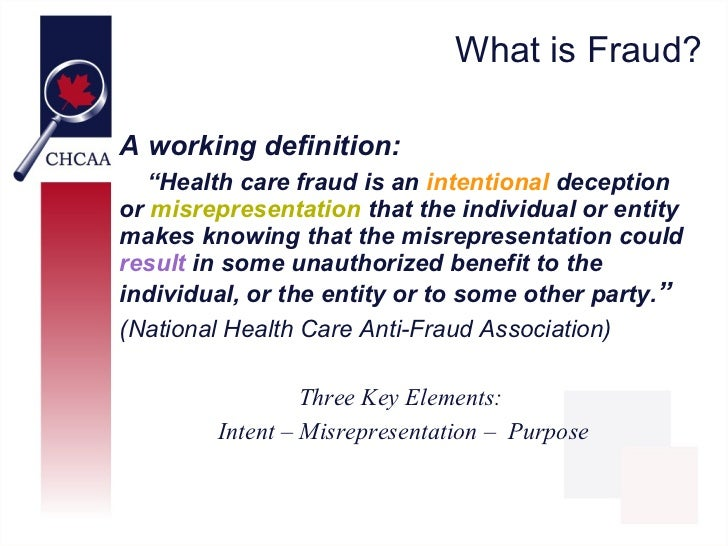 Health Care Fraud: Whose Problem is it? Slide 2