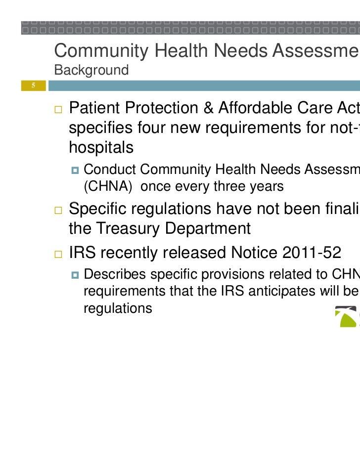 Community Health Needs Assessment Process