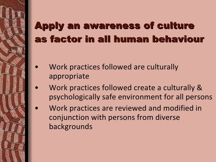 Course Title: Work effectively with culturally diverse clients and co-workers