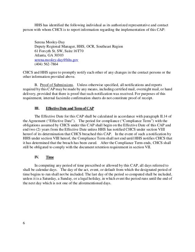 Catholic Health Care Services Resolution Agreement