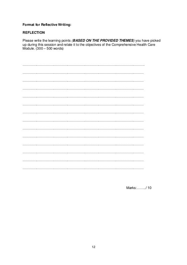 Format for Reflective Writing:REFLECTIONPlease write the learning points (BASED ON THE PROVIDED THEMES) you have pickedup ...