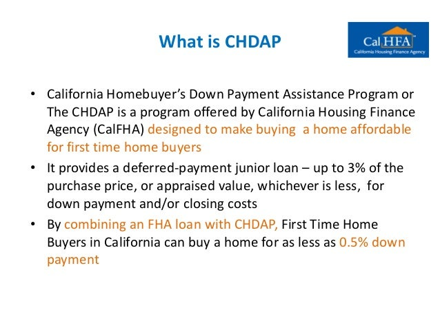 California Home Buyer's Down Payment Assistance Program ...