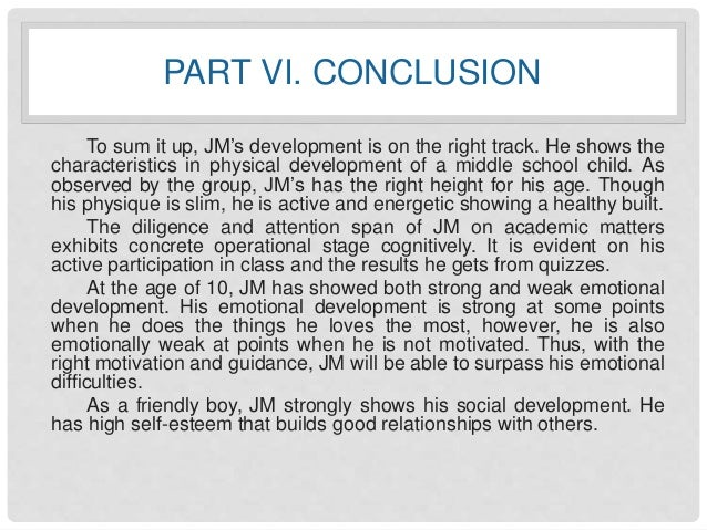 A Case Study about Child Development - JM