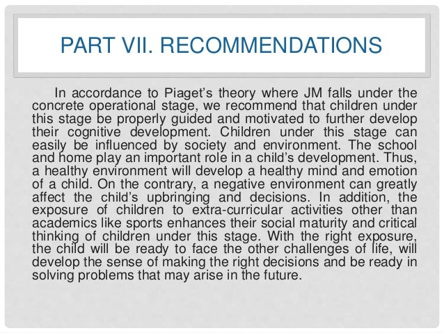 A Case Study About Child Development Jm