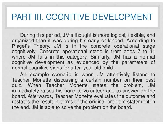 cognitive development of children essay Knowing children's cognitive development allows teachers  the two schools of thought to be addresses in this essay are the cognitive constructivist branch.