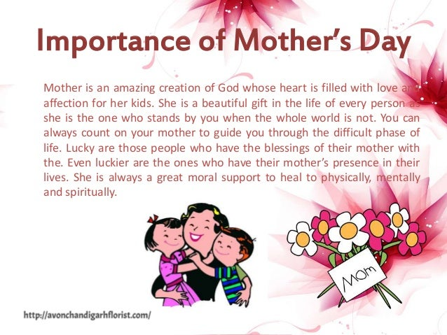 importance of mothers day speech