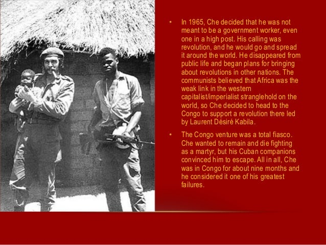 A brief biography of ernesto guevara the head of the cuban revolution