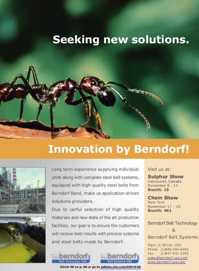 Seeking new solutions.Innovation by Berndorf!Long term experience supplying individual                  Visit us at:units ...