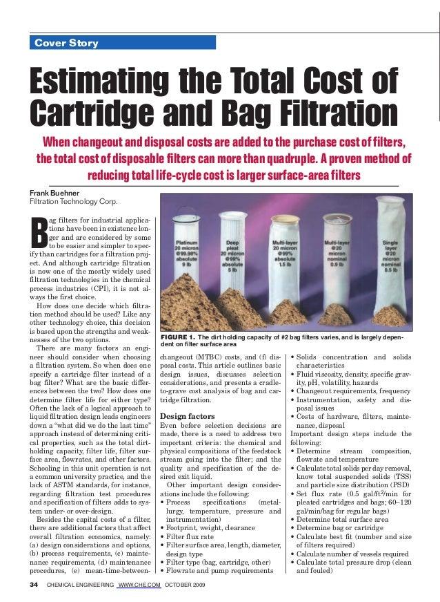 Cartridge versus Bag Filters