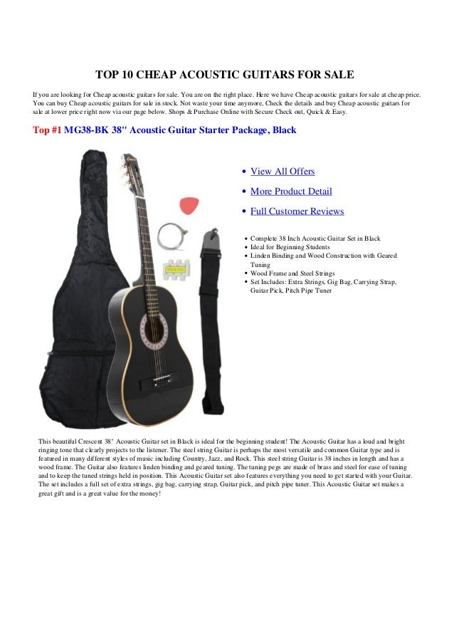 TOP 10 CHEAP ACOUSTIC GUITARS FOR SALEIf you are looking for Cheap acoustic guitars for sale. You are on the right place. ...