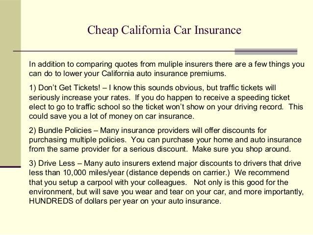 Cheap Auto Insurance In California