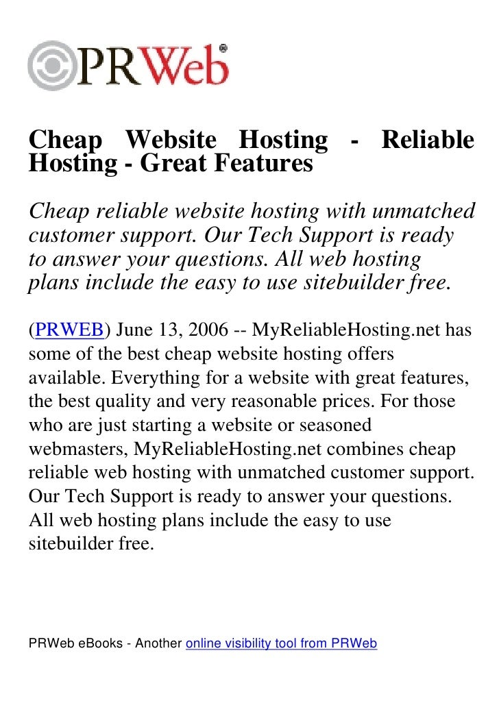 Cheap Website Hosting - Reliable Hosting - Great Features Cheap reliable website hosting with unmatched customer support. ...