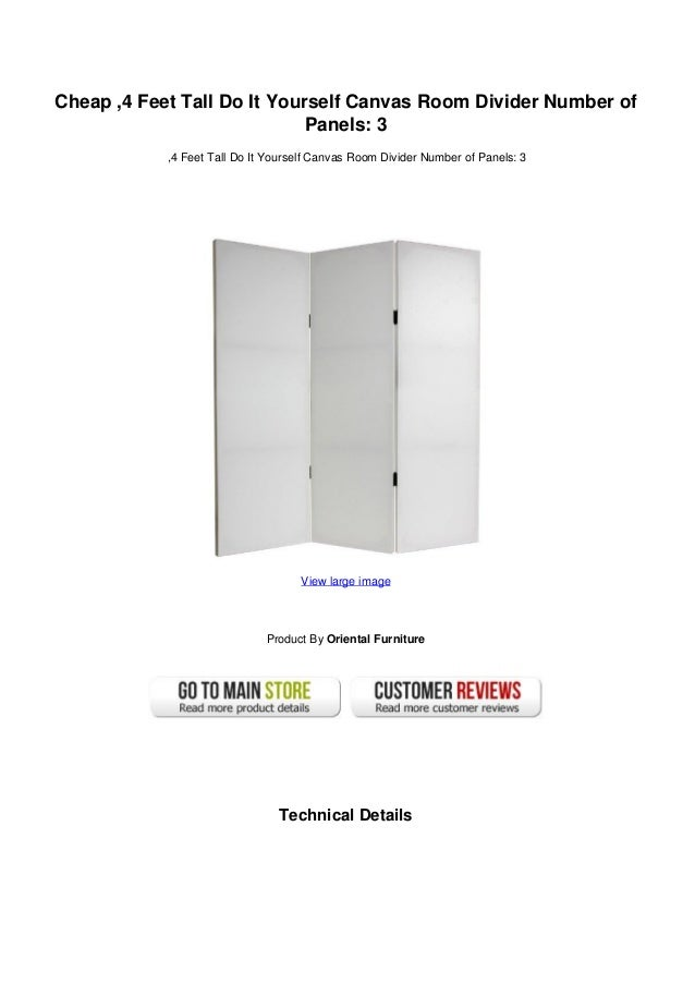 Cheap 4 Feet Tall Do It Yourself Canvas Room Divider Number Of Panels