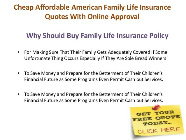 Life Insurance Quotes For Family Fascinating Cheap Affordable American Family Life Insurance Quotes With Online Ap…