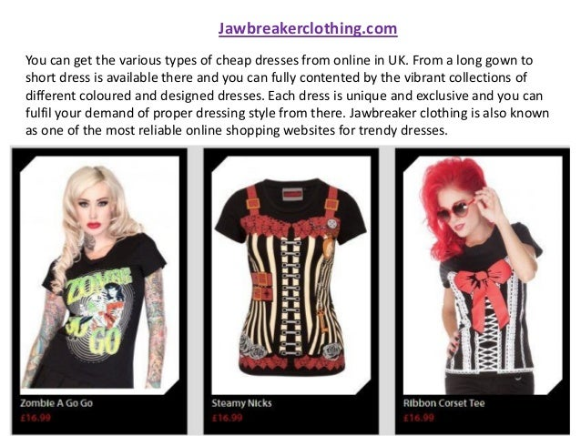 Cheapest Alternative Clothing in UK