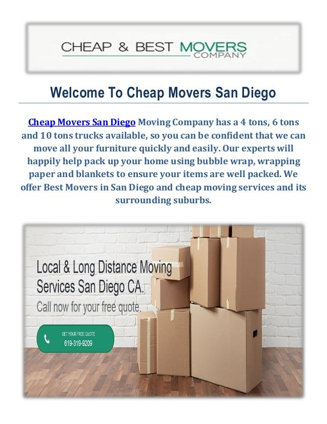 Welcome To Cheap Movers San Diego Cheap Movers San Diego Moving Company Has  A 4 Tons ...