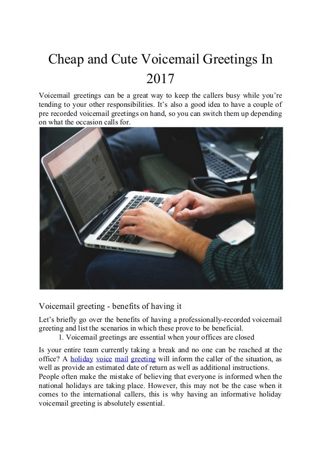 Cheap and cute voicemail greetings in 2017 2 m4hsunfo