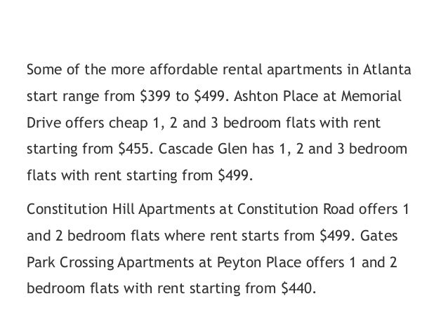 Cheap Atlanta apartments