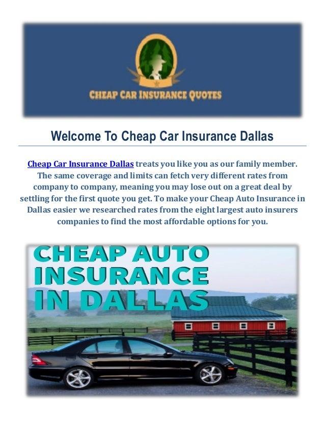 Cheap Auto Insurance Quotes in Dallas, TX