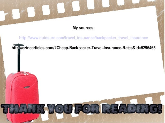 cheap backpacker travel insurance rates