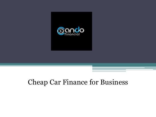 Cheap Car Finance for Business