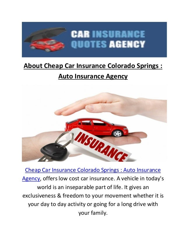 Cheap Car Insurance Hillsdale New Jersey: Cheap Car Insurance In Colorado Springs CO