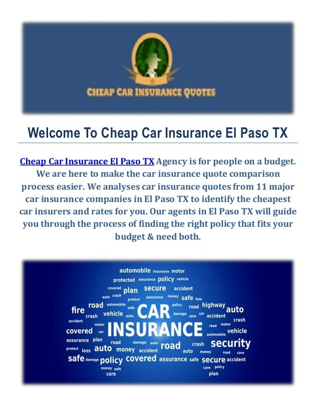 Cheap Car Insurance In El Paso