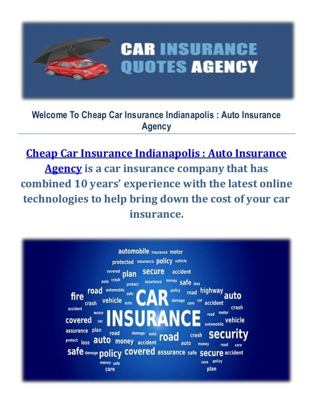 Cheap Car Insurance In Indianapolis Auto Insurance