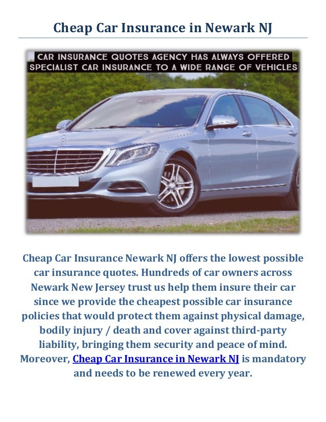 Cheap Car Insurance Quotes Nj