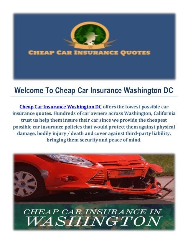 Cheap Car Insurance In Washington