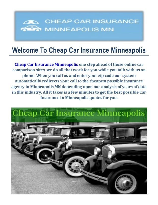 cheap car insurance quotes in minneapolis mn