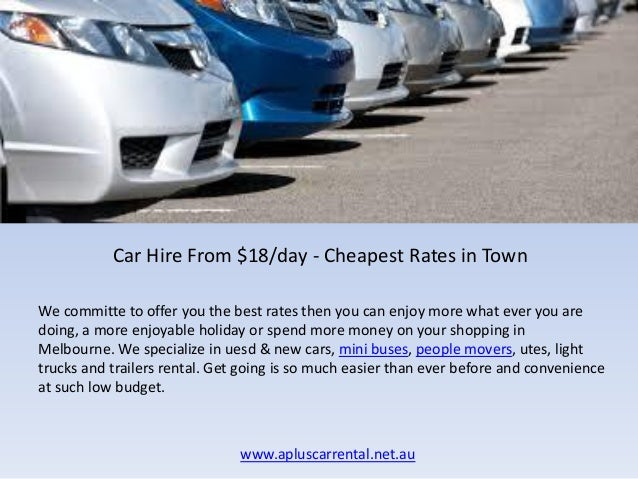 Rental car hire melbourne cheap 12