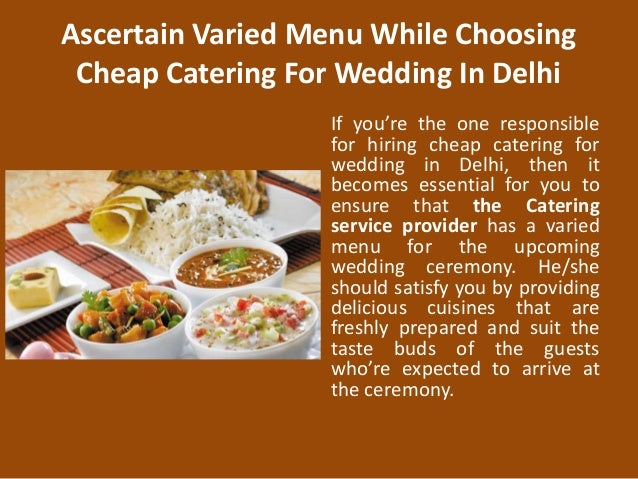 Cheap Catering For Wedding In Delhi 2