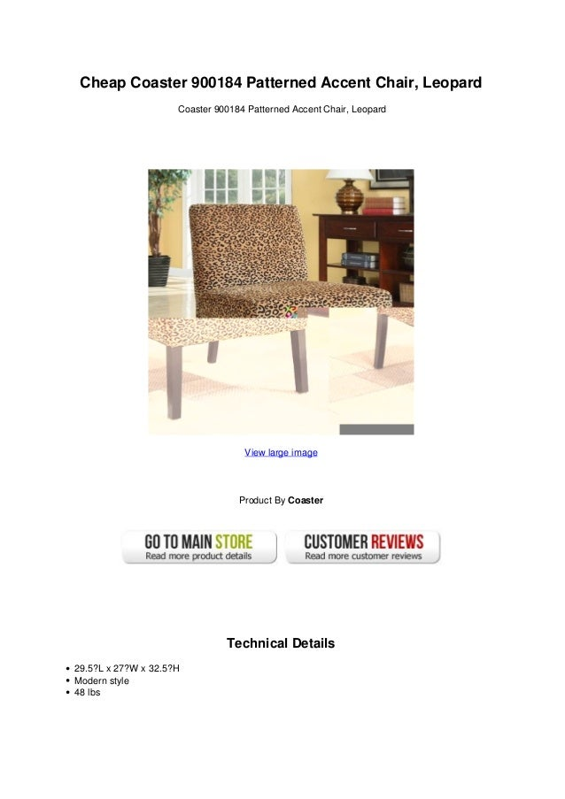 Pleasant Cheap Coaster 900184 Patterned Accent Chair Leopard Beatyapartments Chair Design Images Beatyapartmentscom