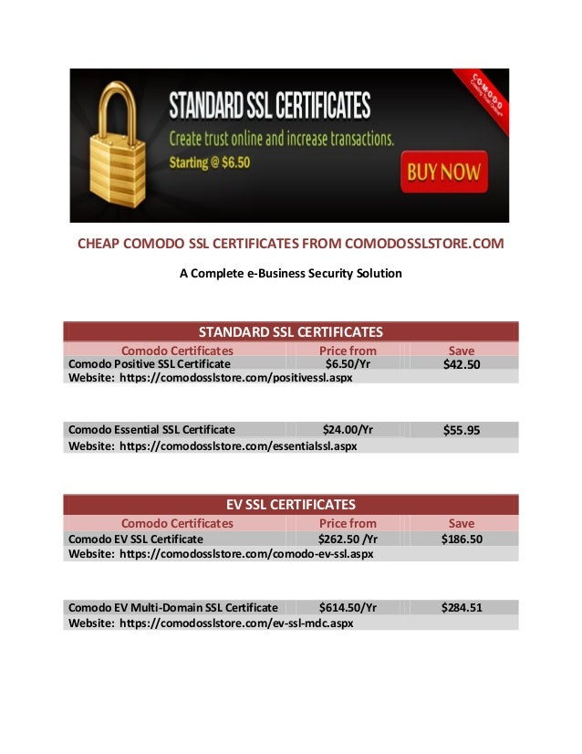 Cheap Comodo Ssl Certificates At Comodosslstore