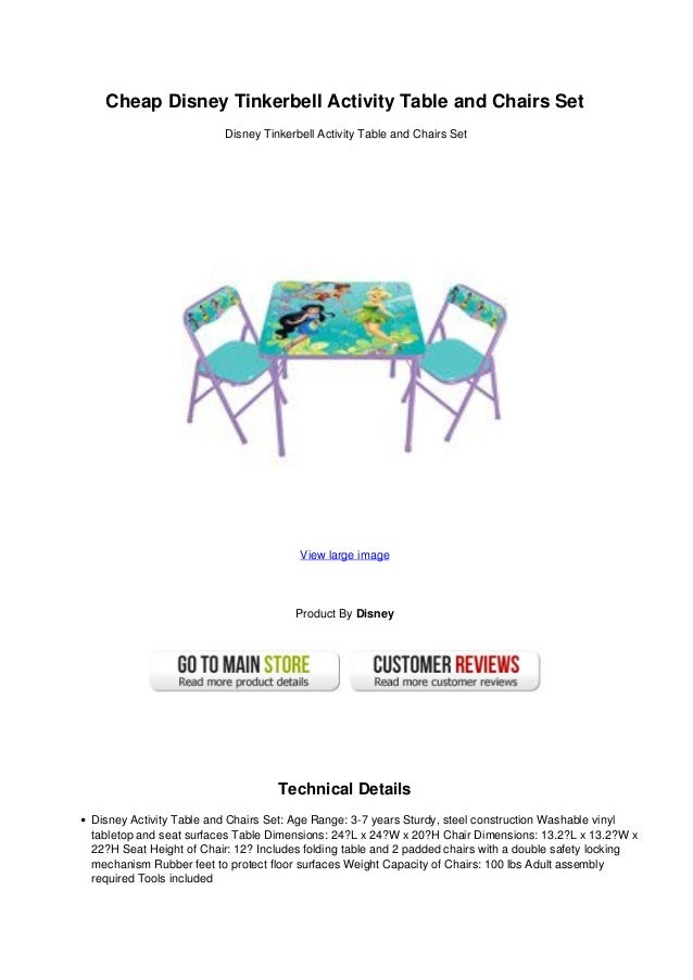 cheap disney tinkerbell activity table and chairs set