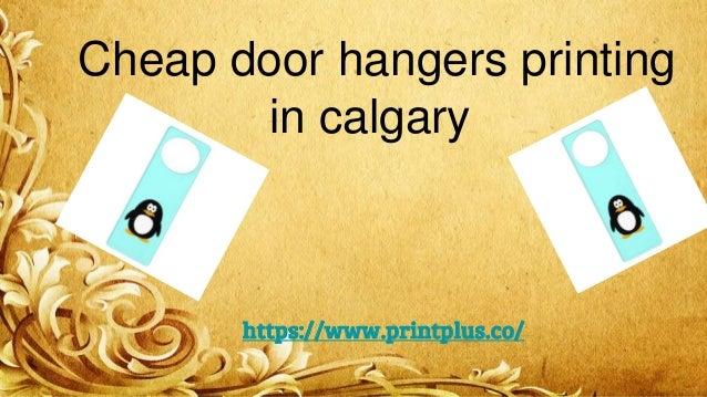 Cheap Door Hangers Printing In Calgary Https://www.printplus.co/ ...